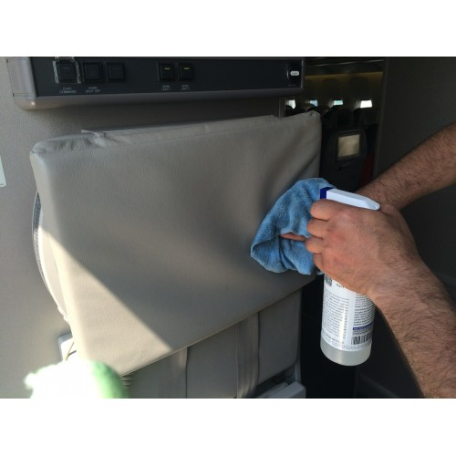 aircraft interior cleaner leather seat cleaning