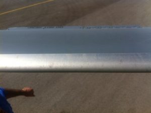 helicopter rotor blade before cleaning