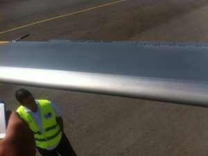 helicopter rotor blade cleaning after