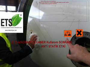 after aircraft cleaning surface motor top